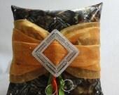 Mossy Oak Ring Bearer Pillow, Ring Pillow, Wedding Ring Pillow, Mossy Oak Pillow, Pillow, Swarovski Crystals, Custom Order