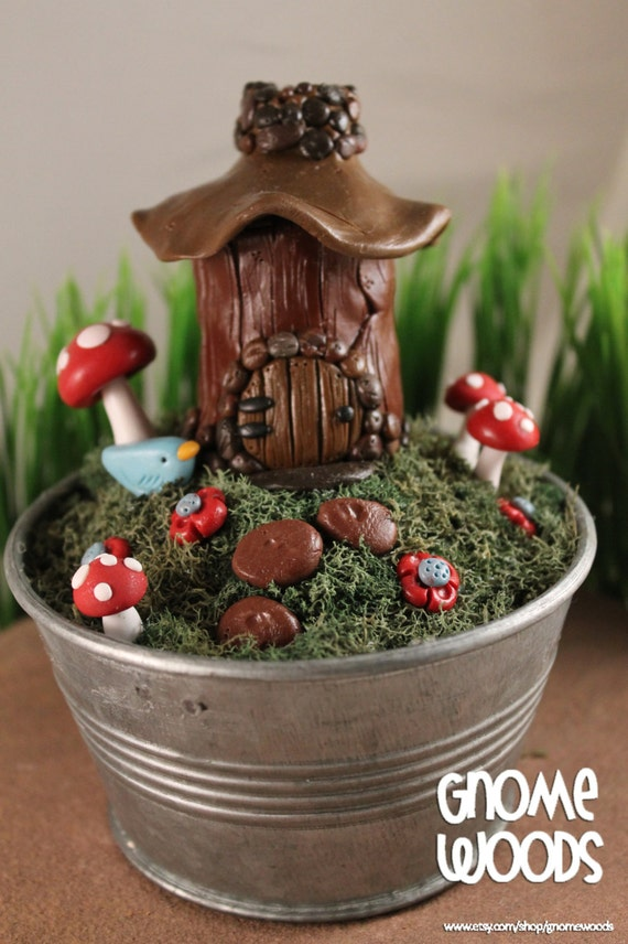 OOAK Gnome Home Scene - Collector's Item by Artist Jennifer Jeffs