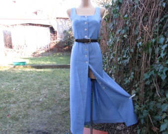 Dress Suit Vintage / Two Piece Suit / 2 PC Dress Suit / Blue Dress Suit / Size EUR44 / UK16