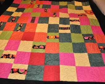 Colorful Squares Quilt