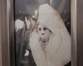 Elegant Mannequin Woman - 4x6in in SEALED Frame