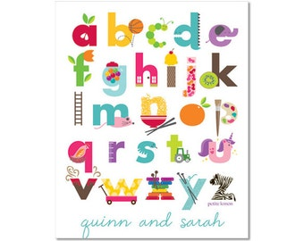 Personalized Alphabet Poster - Iconic Fun