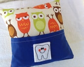 Colorful Owls Tooth Fairy Pillow