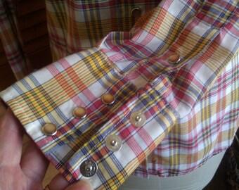 Western Snap Shirt / Long Sleeve / Plaid Shirt