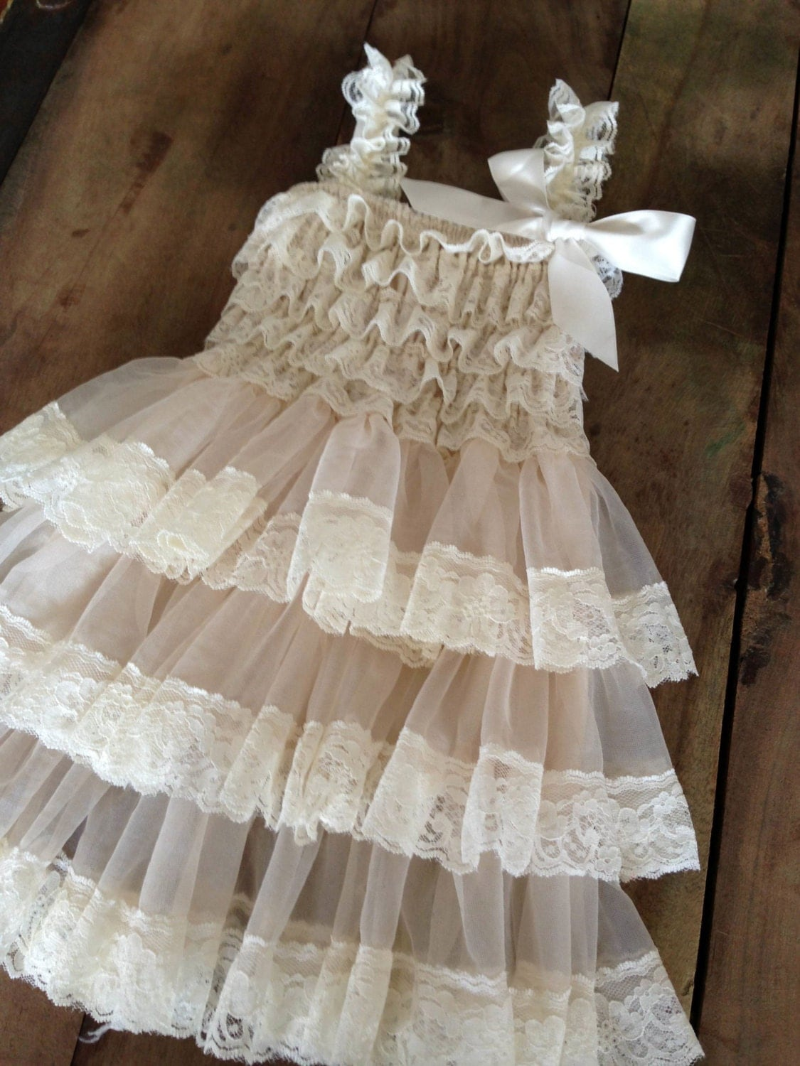 flower girl dress lace - photo #18