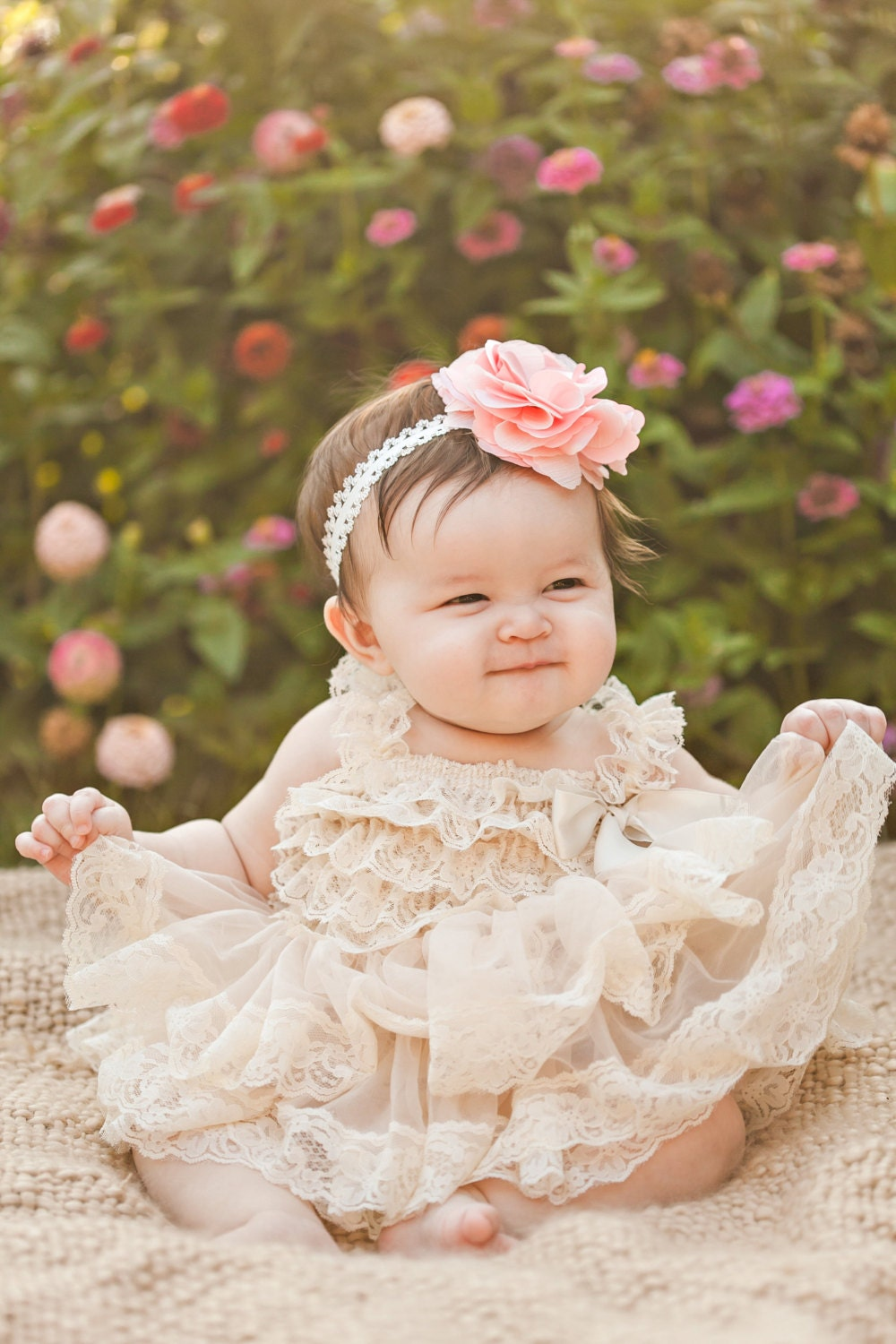 Shop Rare Editions Baby Girls Lace-Hem Organza Dress online at xajk8note.ml Lovely details like a ribbon-adorned waist and lace-trimmed hem create a sweet look with this sleeveless organza dress .