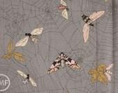 Half Yard Ghastlie Web in Smoke, De Leon Design Group, Alexander Henry Fabrics, 100% Cotton Fabric, 7835BR