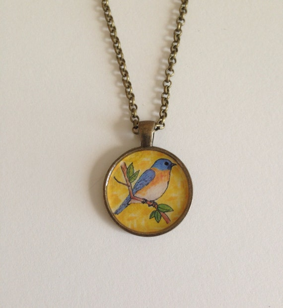 items similar to original painting inside pendant