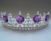 Princess Purple Regal Pearl and Crystal Tiara