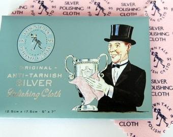 Silver Polishing Cloth, Anti Tarnish Polish, Jewellery Care, Jewellery Cleaner,  Silver Polish Made in the UK
