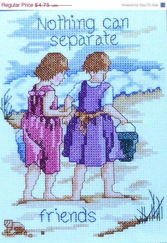 CLEARANCE Janlynn Designs For The Needle - Counted CROSS STITCH Pattern Chart Kit - Nothing Can Separate girl Friends
