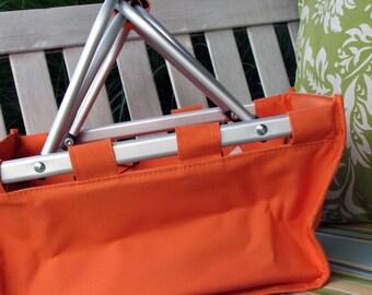 Orange Mini Market Tote Free Personalization