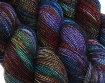 DESTINATIONS basic sock yarn STOCKHOLM hand dyed sw wool nylon 3.5oz  460 yards