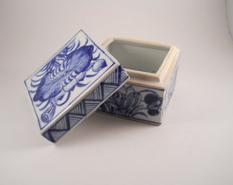 Blue and White Treasure Box for keepsakes or jewelry