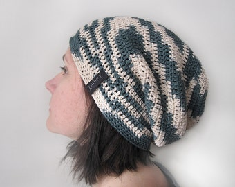 crochet hat, men's or women's, beanie hat, Crochet Slouchy Beanie hat