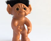 Large authentic Thomas Dam Troll doll with black hair collectible doll Made in Denmark