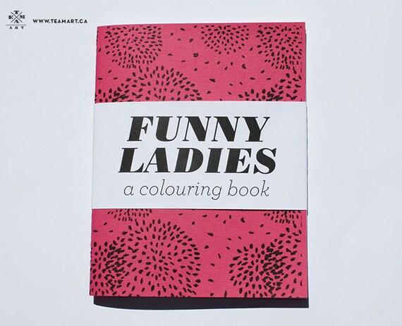 Funny Ladies - A Mini Colouring Book - 4 x 5 in