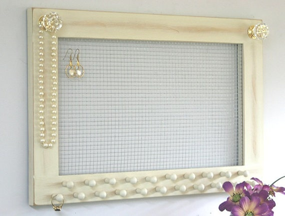 Jewelry holder earring holder large frame wall hanging jersey for Photo clip wall frame