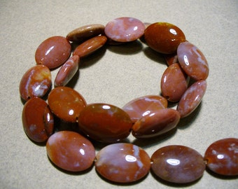 Brecciated Jasper Beads Gemstone Oval 20x13mm