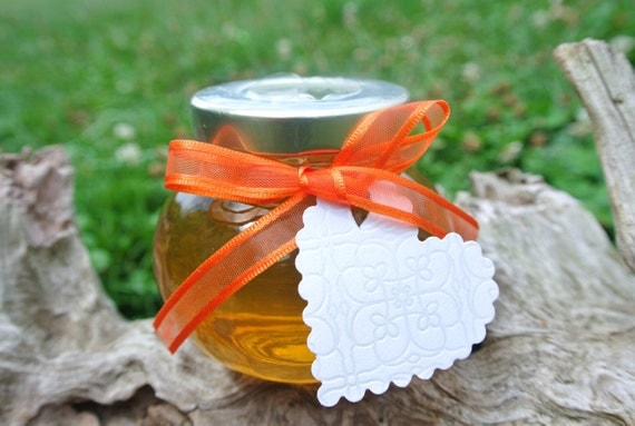 Unique Hostess Thank You Gift, Raw Honey - Facetted Jar