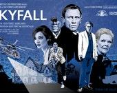 "James Bond 007 - Skyfall - 17 x 11"" Digital Print"