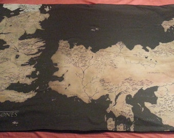The Known World of GoT knit blanket  - made to order
