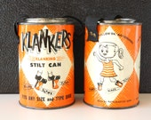 Vintage Klankers Stilt Cans (c1960s) - Hard-to-Find Collectible Toy, Noise Maker, Summer Toy, Party Decor