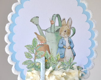 Peter Rabbit Birthday Cake Topper, Centerpiece