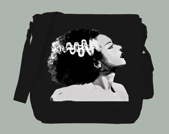 Bride of Frankenstein Canvas Messenger Bag, 15x11x4