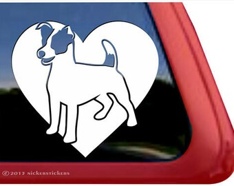 Jack Russell Terrier Heart | DC862HRT | High Quality Adhesive Vinyl Window Decal Sticker