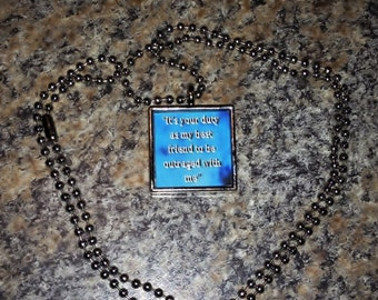Kate Daniels Inspired Pendant - Magic Slays - Book Quote - Author Swag - Literary Necklace - Custom Quotes - Best Friend - Themed Jewelry