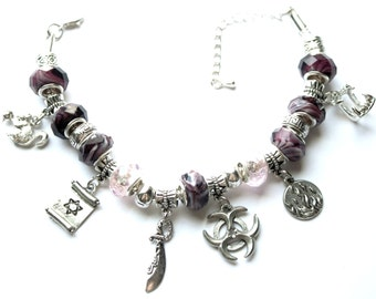 Magic Bleeds Inspired Charm Bracelet - Kate Daniels Series - Theme Jewelry - Urban Fantasy - Myth & Magic - Euro Style - Custom Book Swag