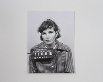 ELKA'S MUG SHOT | 18x24 Screen Print of Vintage Photo