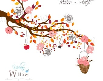 BLISS - Fall. Clip art set. Premium quality, 300 dpi Jpeg and Png files.