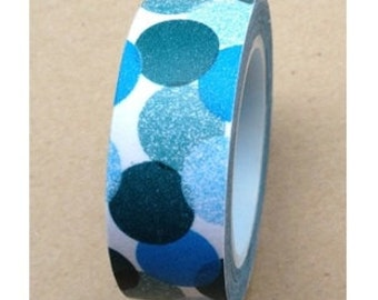 Washi Tape - Big Blue Dots (10M)