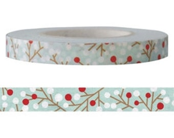Red Fruit Washi Tape (6mm X 15M)