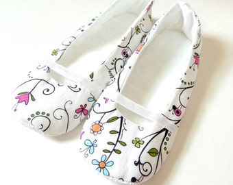 Women's Slippers - Mary Jane - Indoor Shoes - Gift ideas for Mom - House Shoes - Wedding Slippers - Bridesmaids Slippers