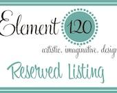 Reserved Listing for Kristina Johnson