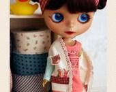 Paperdoll Cardigan casual SET - for Momoko Blythe