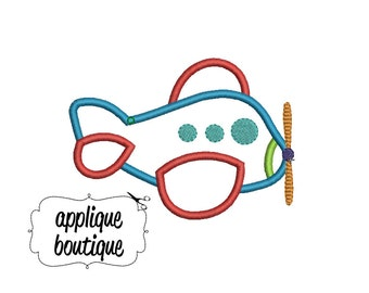 INSTANT DOWNLOAD, Machine Applique Design, Airplane