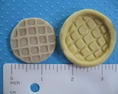 Waffle mold for 18 inch doll American girl doll food mold   FLEXIBLE silicone mold   great for fondant or polymer clay and resin wax