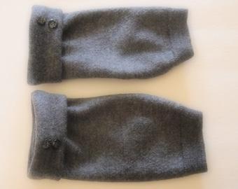 Fingerless Gloves Gray Merino Wool