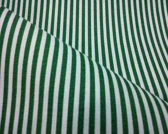 Green and white stripe, fat quarter, pure cotton fabric