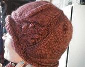 Attention Dawna Custom Order Knitted leaf Hat