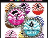 Editable Chevron Color Guard Bottle Cap Images - 4x6 Digital JPEG File Collage Sheet - BottleCap One Inch Circles for Colorguard Jewelry