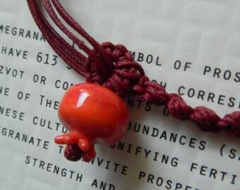 Kabbala Handmade Lampwork Pomegranate (10 mm)  Wish Bracelet  - Prosperity and Fertility