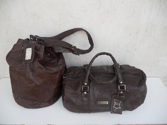 Vintage Avon Travel Duffle Bag Set 10