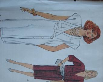 Vogue Pattern 8942 Misses' Dress  1980's  Uncut