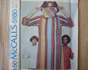 McCALL' s Pattern 5180 Misses' Dress or Top   1976   Uncut