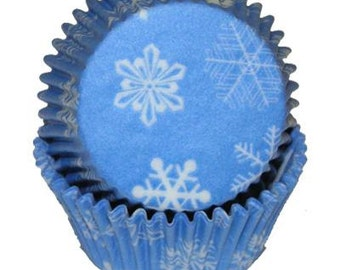 Winter Snowflake Baking Cups